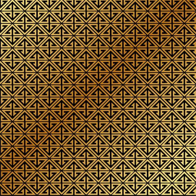 Goldener abstrakter muster-vektor-hintergrund Premium Vektoren