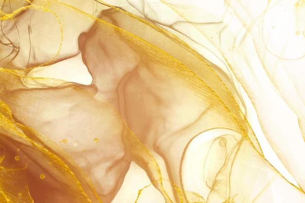 Goldener eleganter flüssiger hintergrund Kostenlosen Vektoren