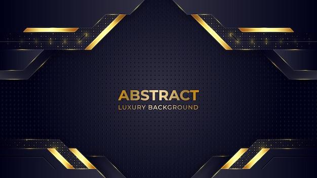 Goldener farbverlauf-luxushintergrund mit geometrischen formen. Premium Vektoren