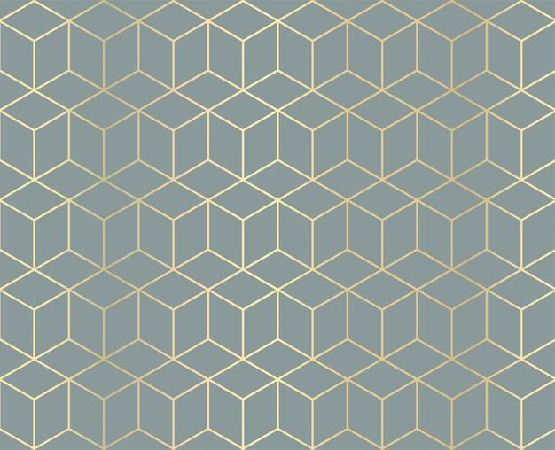 Goldener geometrischer musterhintergrund Premium Vektoren