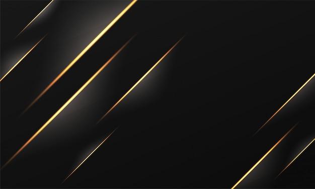 Goldener gestreifter abstrakter hintergrund mit lichteffekt. Premium Vektoren