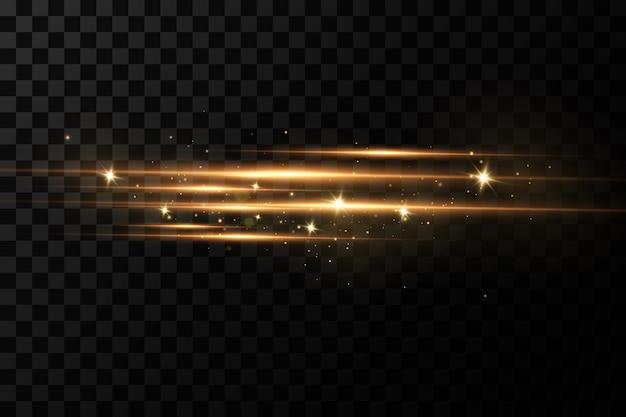 Goldener lichteffekt Premium Vektoren