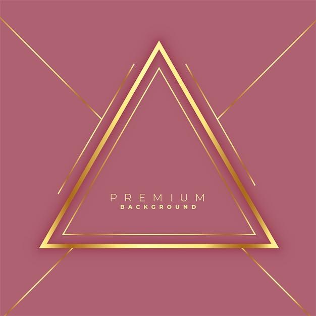 Goldener linienrahmenhintergrund des premium-dreiecks Kostenlosen Vektoren