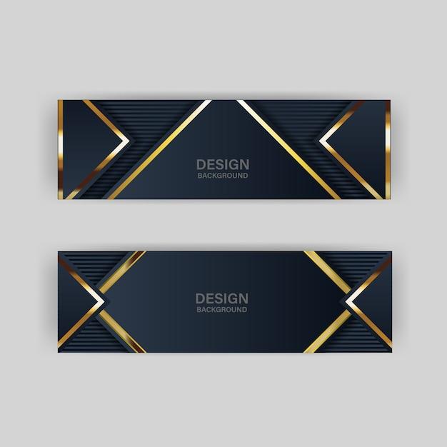 Goldener luxus der goldfahne heller farbhintergrundhintergrund Premium Vektoren
