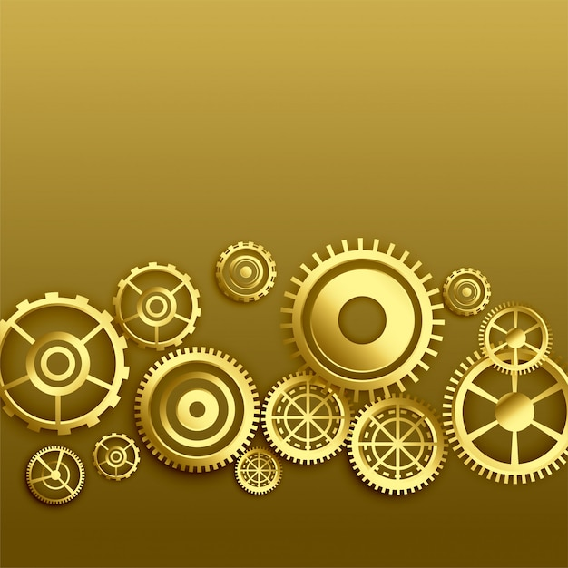 Goldener metallischer ganghintergrund Kostenlosen Vektoren