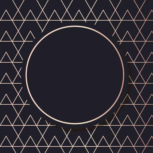 Goldener rahmenkunstvektor geometrische elegante hintergrundquadratkarte Premium Vektoren