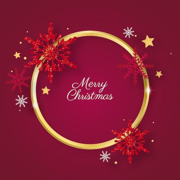 Goldener ring weihnachten Kostenlosen Vektoren