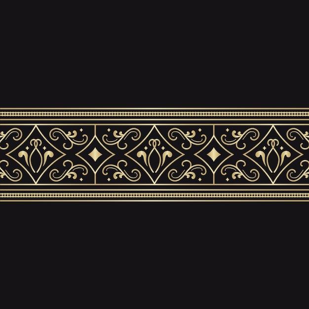 Goldenes dekoratives grenzkonzept Kostenlosen Vektoren