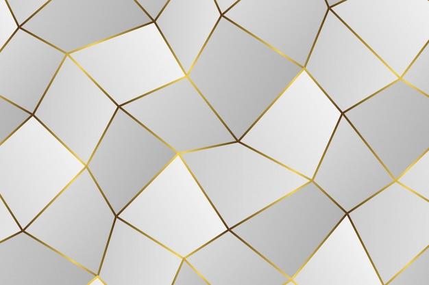 Goldenes geometrisches abstraktes muster. Premium Vektoren