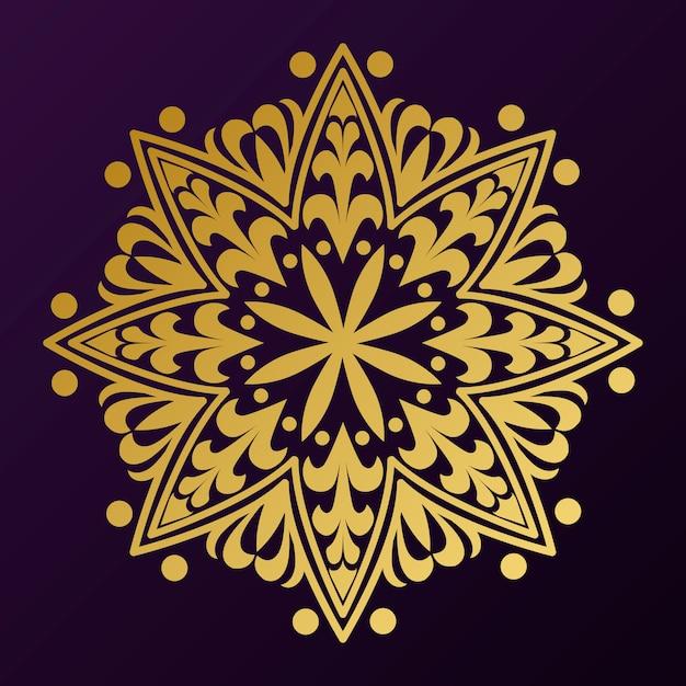 Goldenes mandala-abzeichen Kostenlosen Vektoren