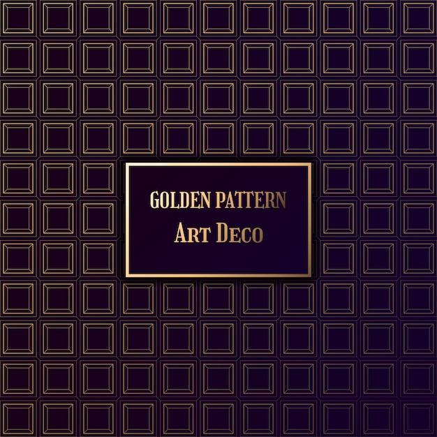 Goldenes muster im stil art deco. gatsby-muster im dunklen hintergrund. Premium Vektoren