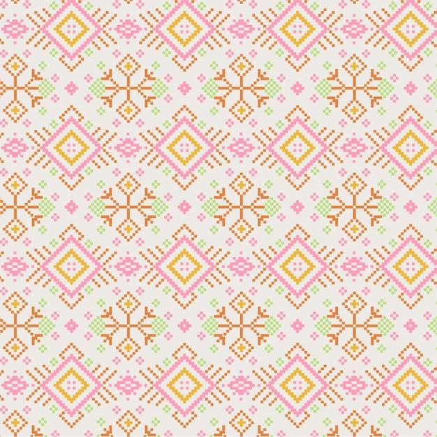 Goldenes rosa songket-muster Kostenlosen Vektoren
