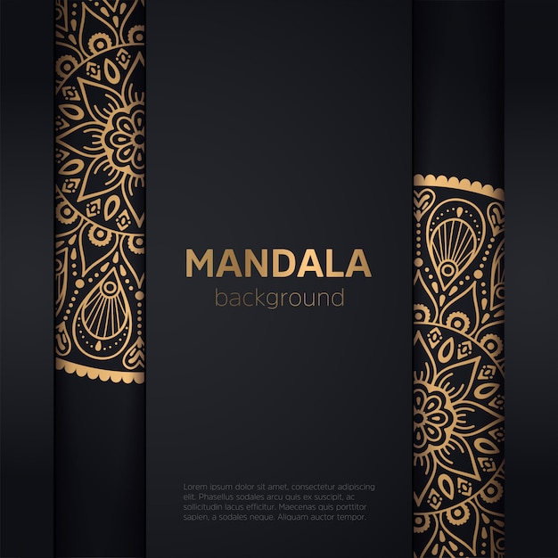 Goldhintergrund mit mandala Kostenlosen Vektoren