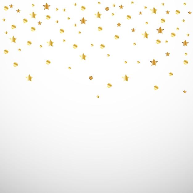 Goldkonfetti ein herz und ein stern Premium Vektoren