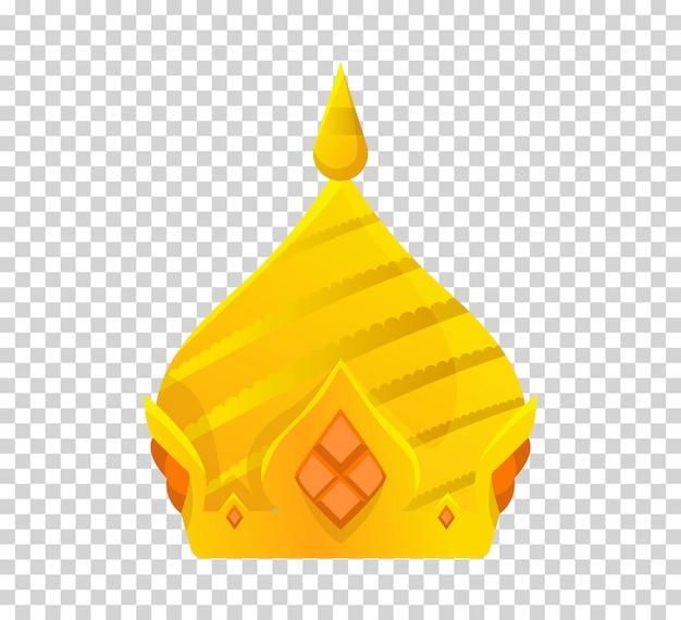 Goldkrone design. königlicher könig, königin, prinzessinkrone. Premium Vektoren