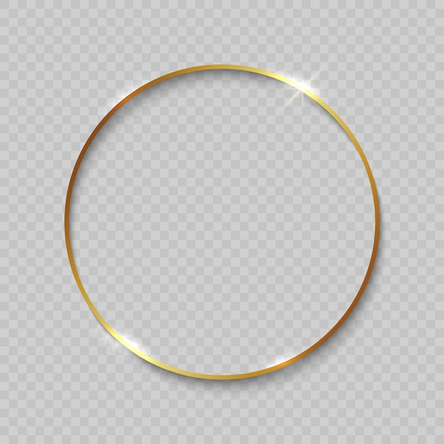 Goldrahmen mit glänzenden rändern Premium Vektoren