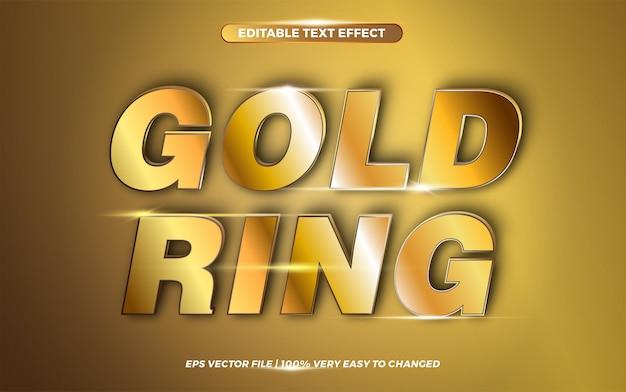 Goldringwörter, texteffektstilkonzept Premium Vektoren