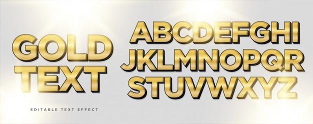 Goldschwarzer textarteffekt Premium Vektoren