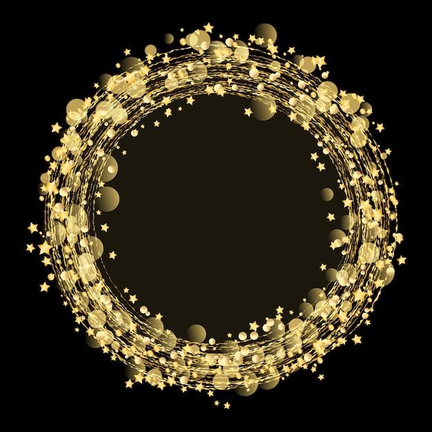 Goldsterne und funkelnhintergrund Kostenlosen Vektoren