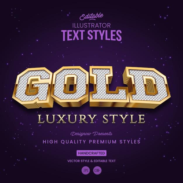 Goldtextstil Premium Vektoren