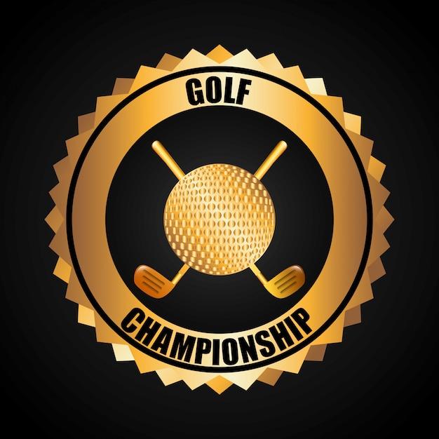 Golf-championship-design Kostenlosen Vektoren