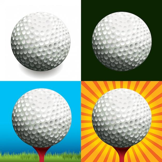 Golfbälle Premium Vektoren
