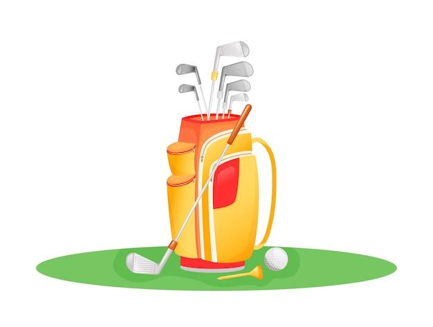Golfspiel flache konzeptillustration Premium Vektoren