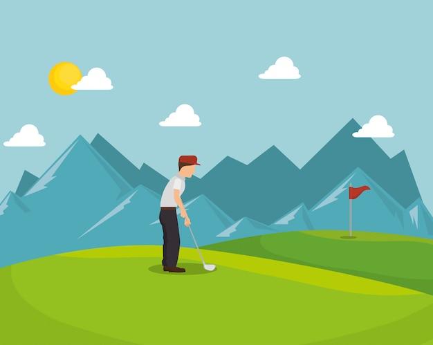 Golfturnier design Premium Vektoren