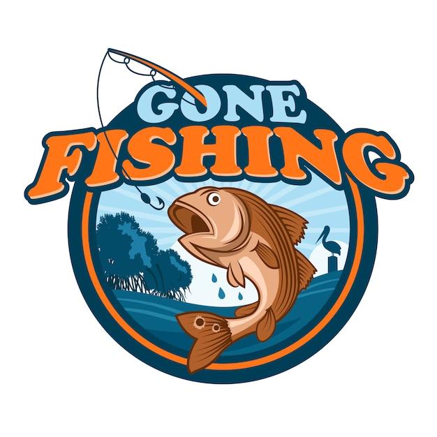 Gone fishing Premium Vektoren