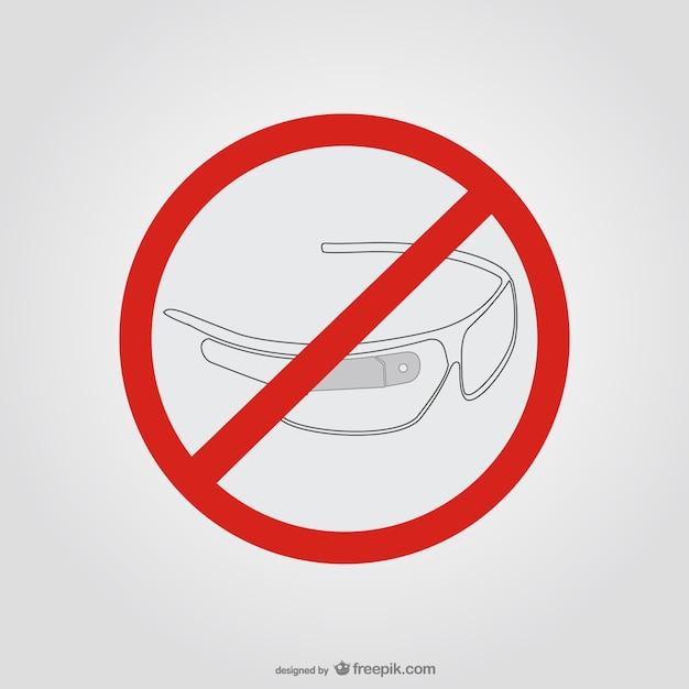 Google gläser stop-schild Kostenlosen Vektoren