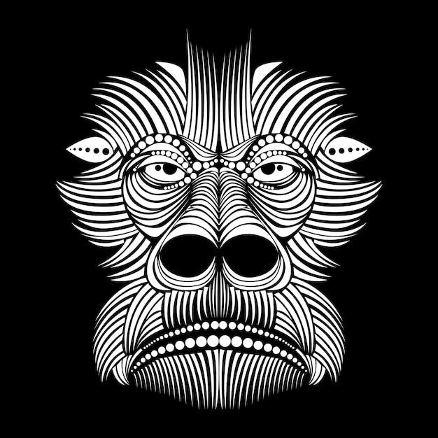 Gorilla Gesichtsmaske Vektor | Download der Premium Vektor