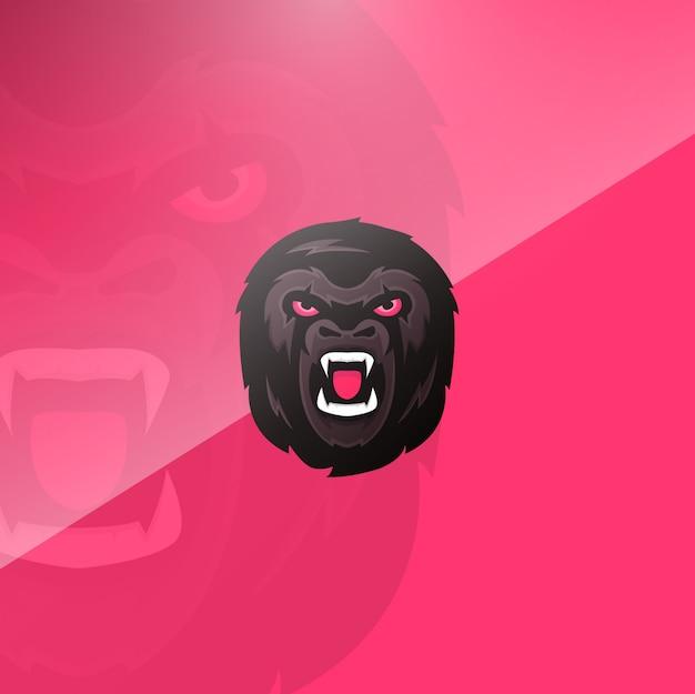 Gorilla kopf hintergrund Kostenlosen Vektoren
