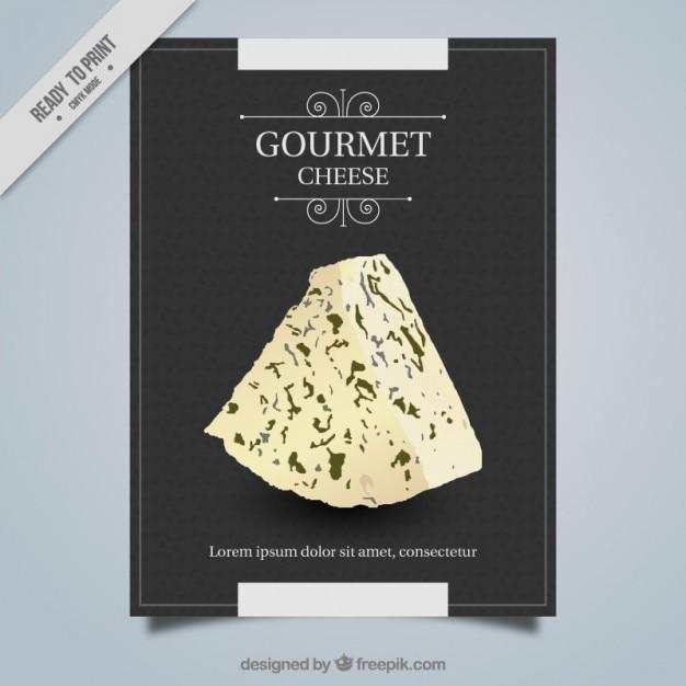Gourmet-käse plakat Kostenlosen Vektoren