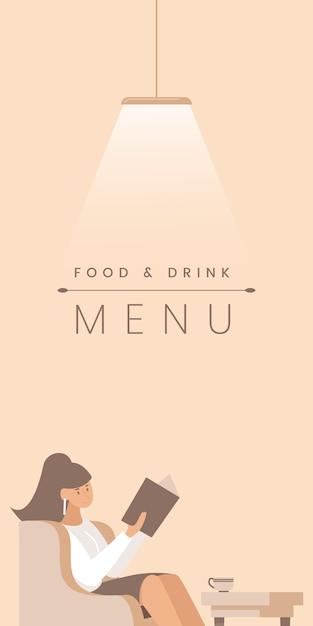 Gourmet-restaurant flache banner vorlage. Premium Vektoren