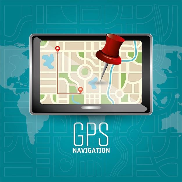 Gps-navigationsdesign Premium Vektoren