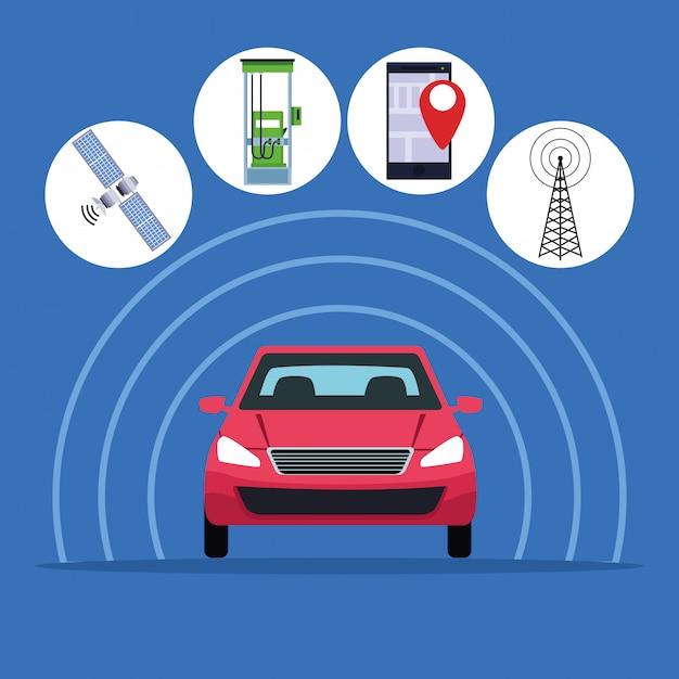 Gps-standort autoservice Kostenlosen Vektoren