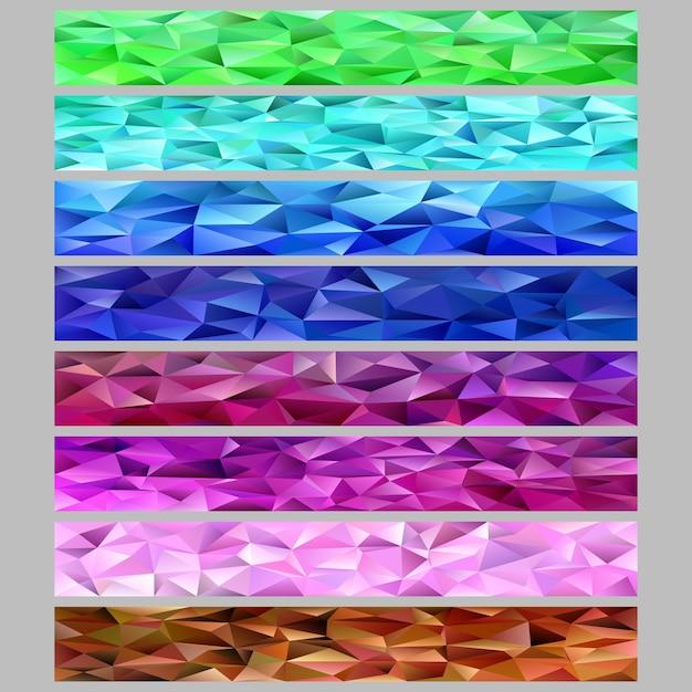 Gradient abstrakte Dreieck Polygon-Muster Mosaik Web Banner ...