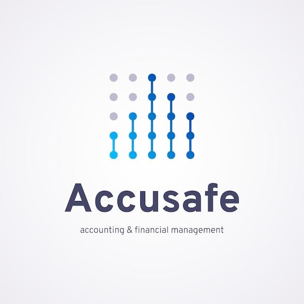 Gradient accounting logo vorlage Kostenlosen Vektoren