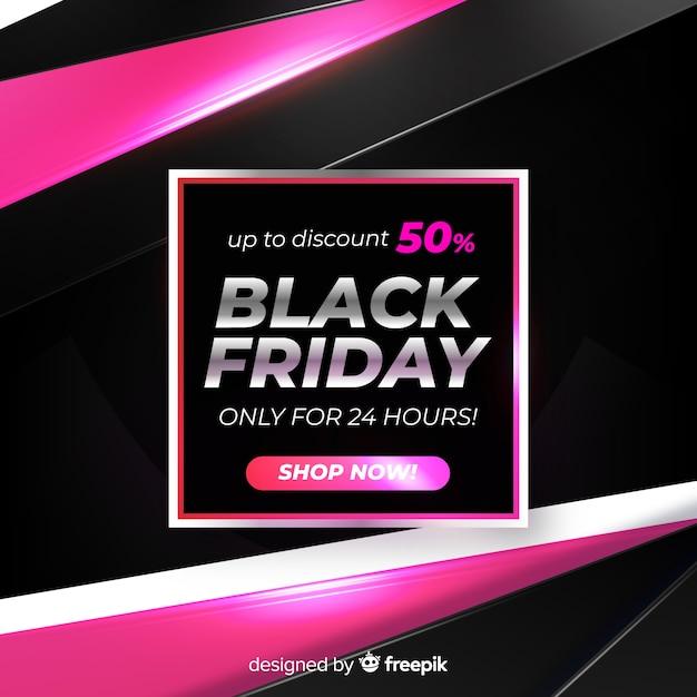 Gradient black friday online-shop-verkäufe für einen tag Kostenlosen Vektoren