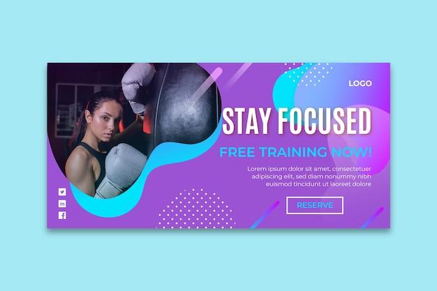 Gradient boxing banner vorlage Kostenlosen Vektoren