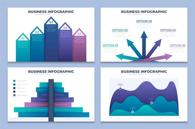Gradient business infografiken konzept Premium Vektoren