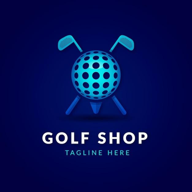 Gradient golf logo Kostenlosen Vektoren