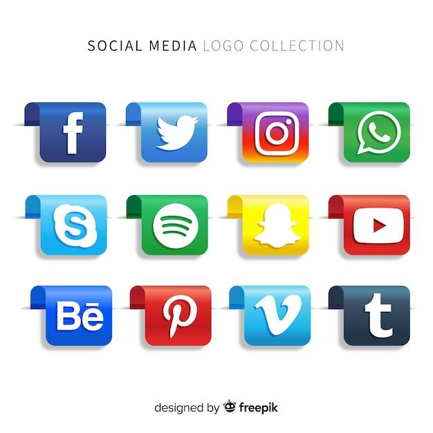 Gradient-logo für social media-logos Kostenlosen Vektoren