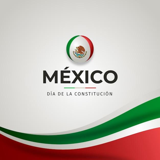 Gradient mexiko verfassungstag Kostenlosen Vektoren