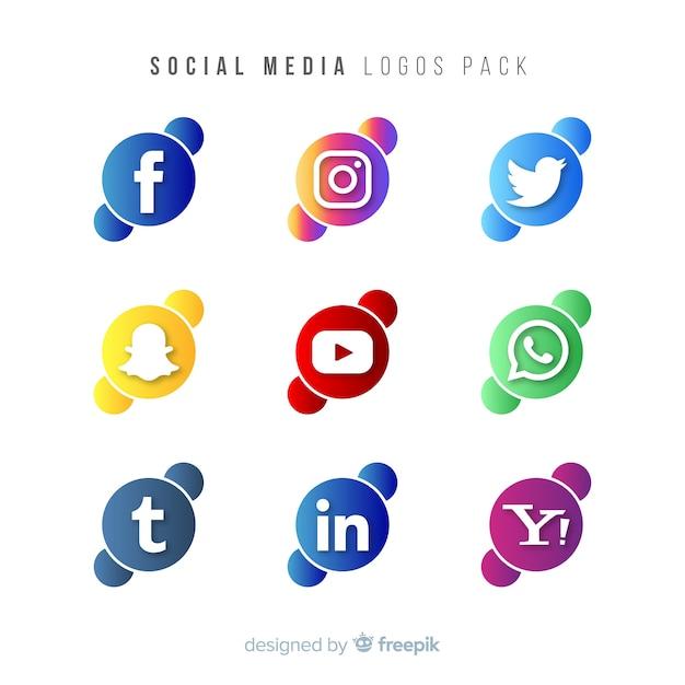 Gradient-social-media-logo collectio Kostenlosen Vektoren