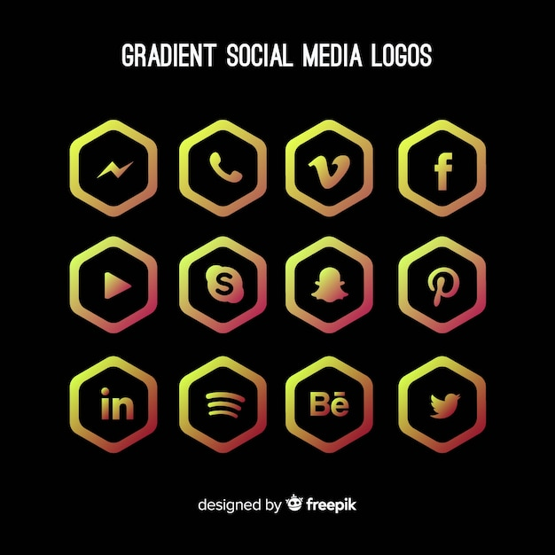 Gradient-social-media-logo collectio Kostenlosen Vektoren