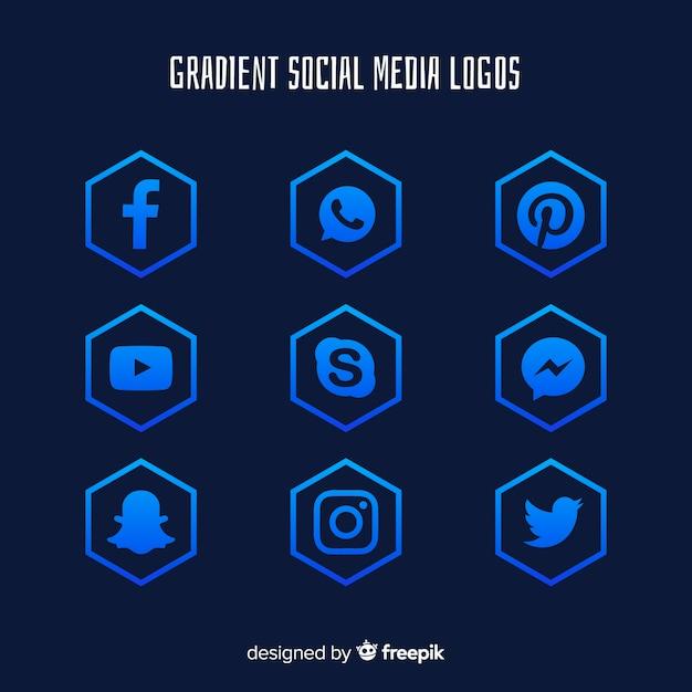 Gradient-social-media-logos Kostenlosen Vektoren