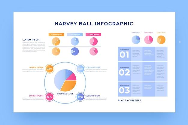 Gradienten-harvey-ball-diagramme Kostenlosen Vektoren