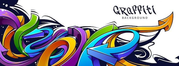 Graffiti-design an der wand Kostenlosen Vektoren