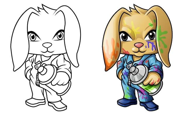 graffiti kaninchen cartoon malvorlagen für kinder
